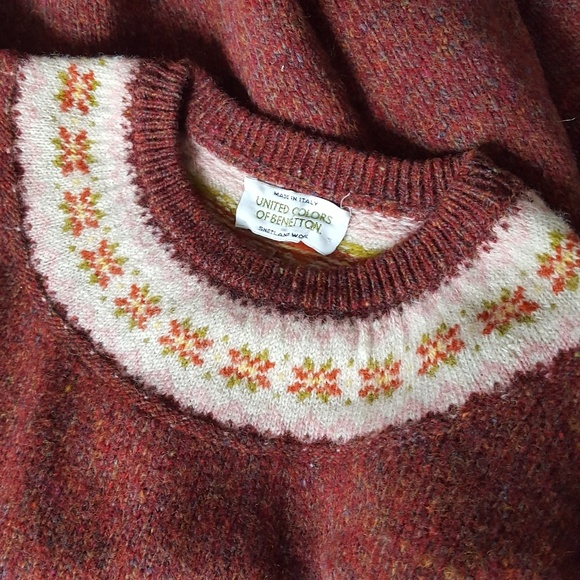 f7f81e87bb0 Vintage Fair Isle Nordic Wool Sweater L X. M 5b9dc6186a0bb7d487302aef.  Other Sweaters you may like. United Colors Of Benetton ...
